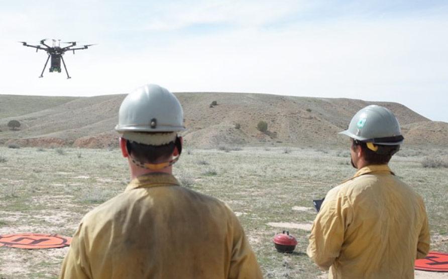 Firemen Flying Drones
